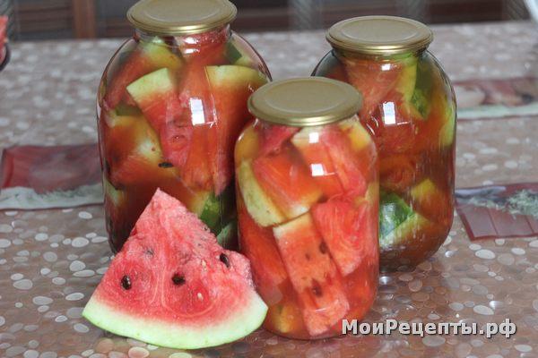 Маринованный арбуз в томатном соке
