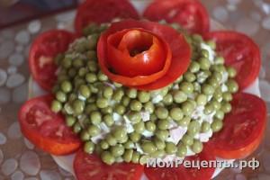 """Салат """"Праздничный цветок"""""""