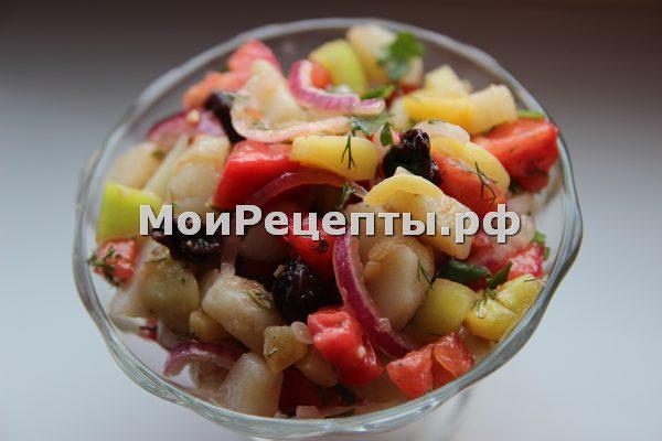 блюда из овощей, вкусный салат, низкокалорийное, постное блюдо, салат по французски, салат по французски рецепт