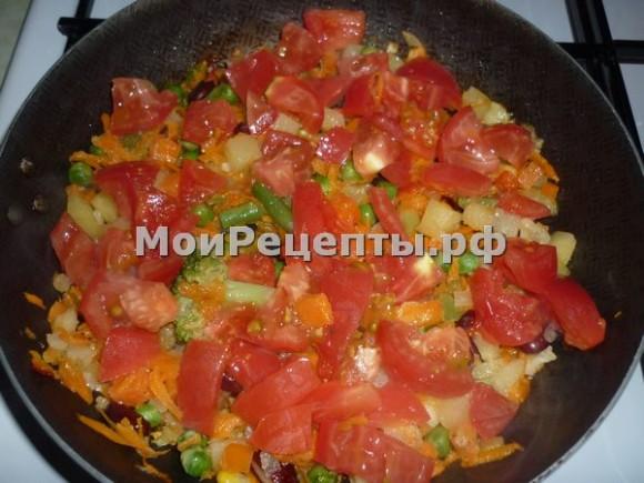 Овощной омлет рецепт