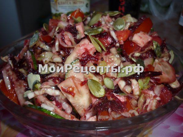 салат легкий овощной рецепт с фото