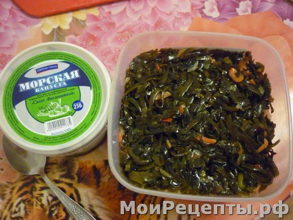рецепты салат морская капуста