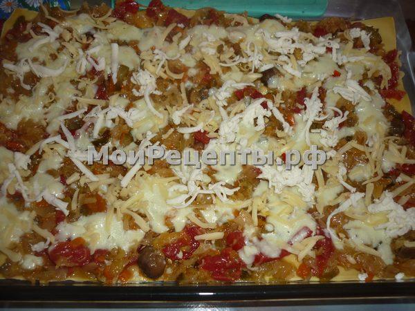 Рецепт овощной лазаньи в домашних условиях