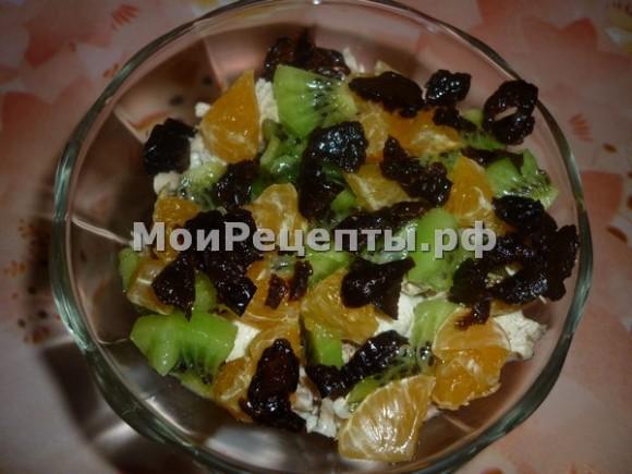 рецепт салат маркиза, салат маркиза, салат маркиза рецепт с фото, салат с киви и грецкими орехами