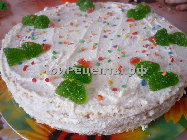торт из песочных коржей рецепты
