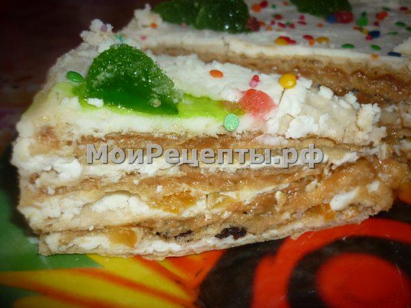 вафельный торт с не вареной сгущенкой рецепт с фото