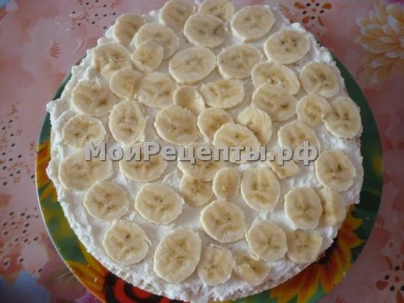 Как сделать торт из вафельных коржей со сметаной