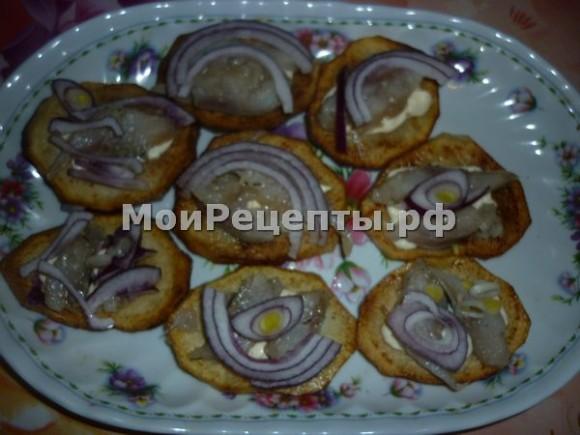 Холодные закуски из сельди